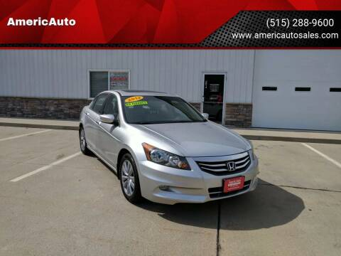 2012 Honda Accord for sale at AmericAuto in Des Moines IA
