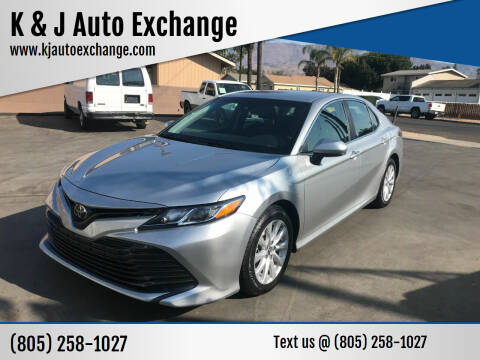 2018 Toyota Camry for sale at K & J Auto Exchange in Santa Paula CA