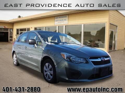 2014 Subaru Impreza for sale at East Providence Auto Sales in East Providence RI