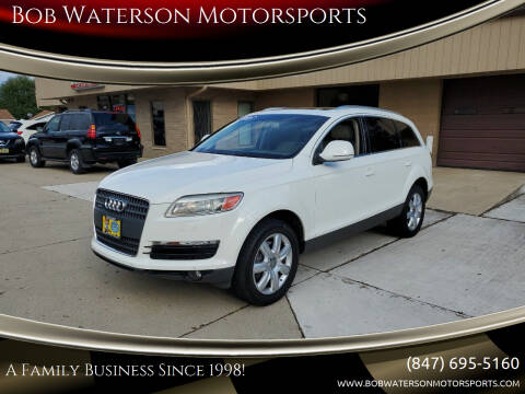 2008 Audi Q7 for sale at Bob Waterson Motorsports in South Elgin IL