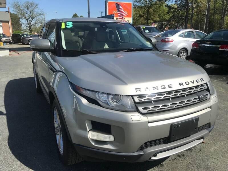 2013 Land Rover Range Rover Evoque for sale at Dad's Auto Sales in Newport News VA