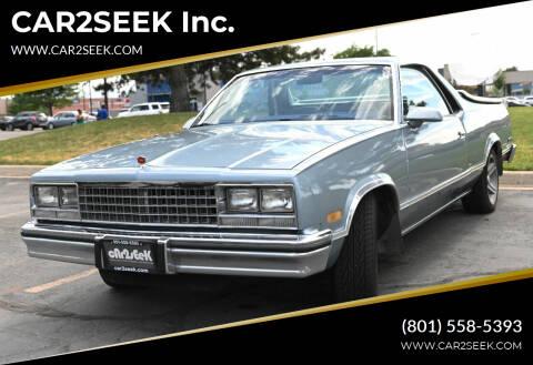 1986 Chevrolet El Camino for sale at CAR2SEEK Inc. in Salt Lake City UT