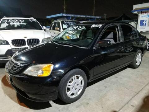 2002 Honda Civic for sale at Olympic Motors in Los Angeles CA