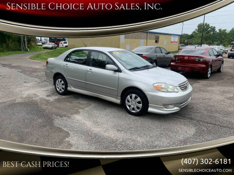 2003 Toyota Corolla for sale at Sensible Choice Auto Sales, Inc. in Longwood FL