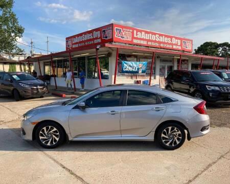 2017 Honda Civic for sale at LA Auto Sales in Monroe LA