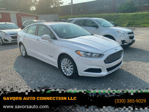 2016 Ford Fusion Hybrid for sale at SAVORS AUTO CONNECTION LLC in East Liverpool OH