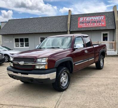 2003 Chevrolet Silverado 1500 for sale at Stephen Motor Sales LLC in Caldwell OH