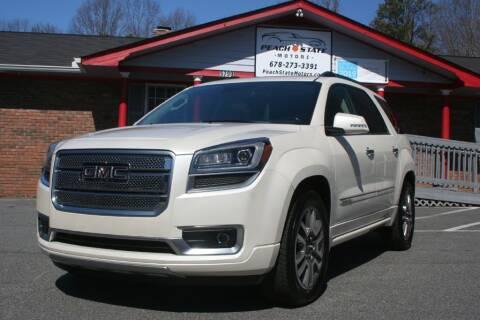 2014 GMC Acadia for sale at Peach State Motors Inc in Acworth GA