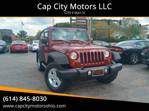 2010 Jeep Wrangler for sale at Cap City Motors LLC in Columbus OH
