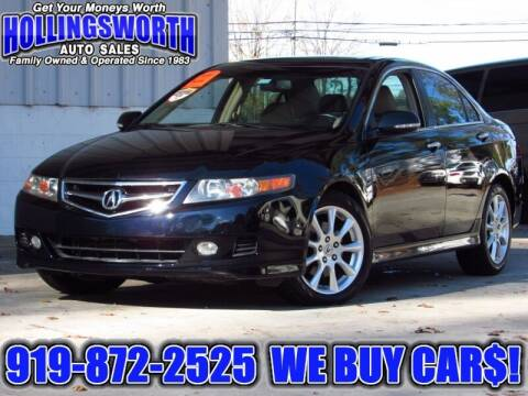 2008 Acura TSX for sale at Hollingsworth Auto Sales in Raleigh NC