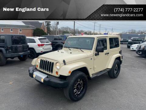 2011 Jeep Wrangler for sale at New England Cars in Attleboro MA
