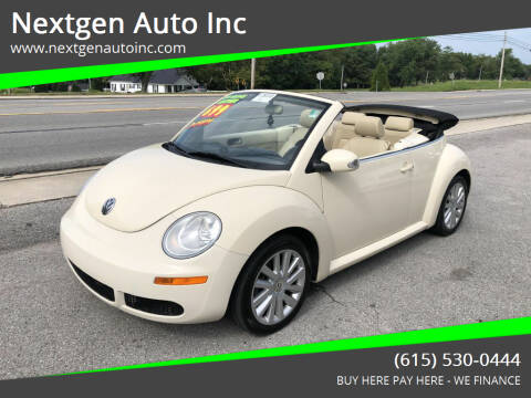 2008 Volkswagen New Beetle Convertible for sale at Nextgen Auto Inc in Smithville TN