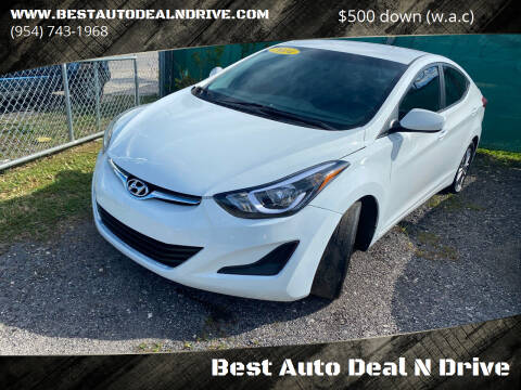 2014 Hyundai Elantra for sale at Best Auto Deal N Drive in Hollywood FL