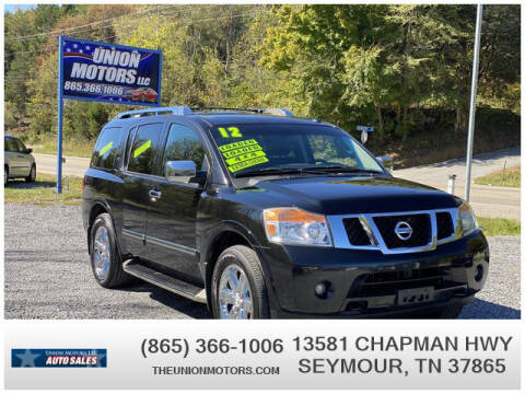 2012 Nissan Armada for sale at Union Motors in Seymour TN
