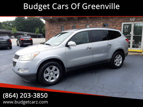 2010 Chevrolet Traverse for sale at Budget Cars Of Greenville in Greenville SC