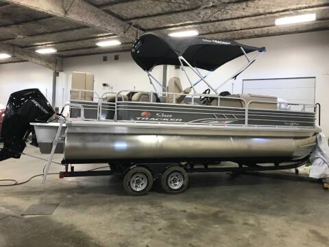 2021 SUNTRACKER  FISH BARGE 22 XP3 for sale at Tyndall Motors in Tyndall SD