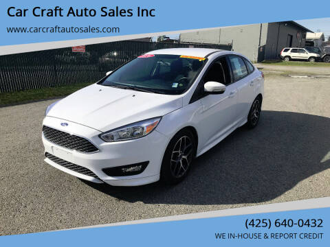 2016 Ford Focus for sale at Car Craft Auto Sales Inc in Lynnwood WA