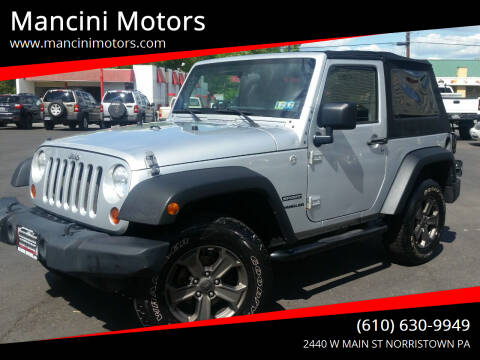 2010 Jeep Wrangler for sale at Mancini Motors in Norristown PA