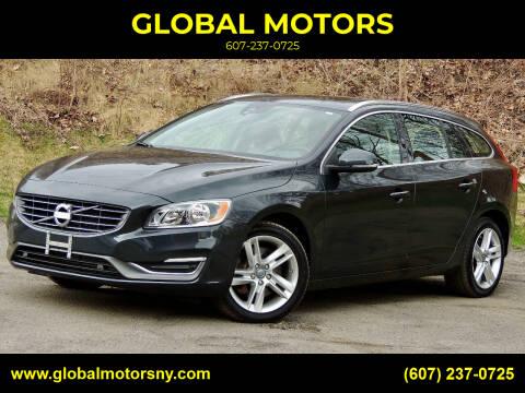 2015 Volvo V60 for sale at GLOBAL MOTORS in Binghamton NY