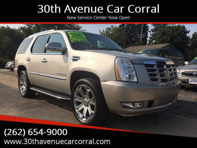 2007 Cadillac Escalade for sale at 30th Avenue Car Corral in Kenosha WI
