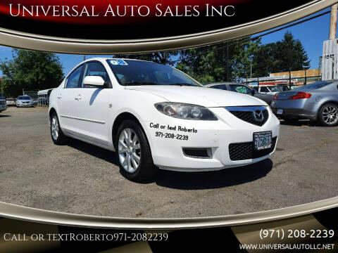 2008 Mazda MAZDA3 for sale at Universal Auto Sales Inc in Salem OR