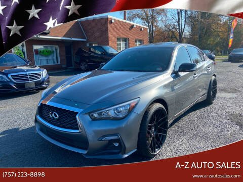 2018 Infiniti Q50 for sale at A-Z Auto Sales in Newport News VA