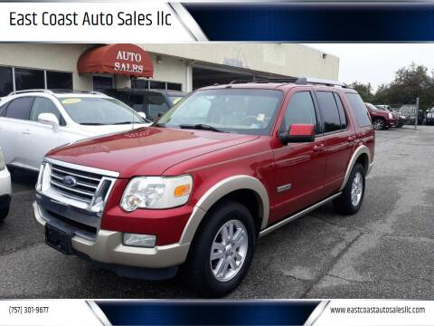 2007 Ford Explorer for sale at East Coast Auto Sales llc in Virginia Beach VA