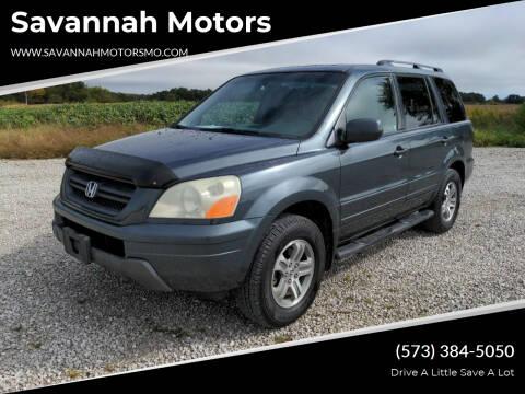 2005 Honda Pilot for sale at Savannah Motors in Elsberry MO
