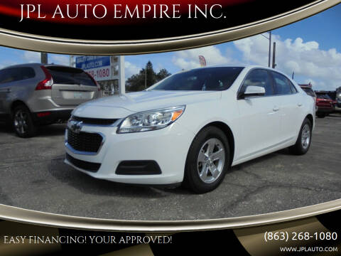 2015 Chevrolet Malibu for sale at JPL AUTO EMPIRE INC. in Auburndale FL