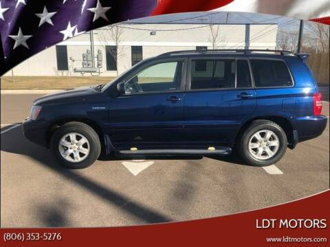 2002 Toyota Highlander for sale at LDT MOTORS in Amarillo TX