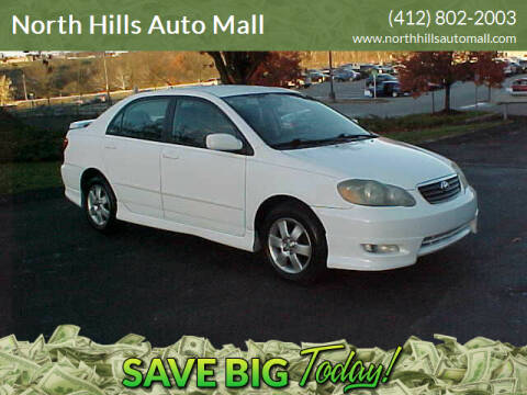 2005 Toyota Corolla for sale at North Hills Auto Mall in Pittsburgh PA