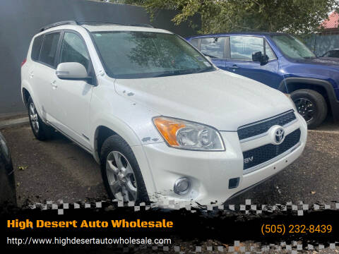 2011 Toyota RAV4 for sale at High Desert Auto Wholesale in Albuquerque NM