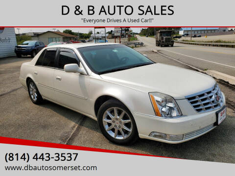 2010 Cadillac DTS for sale at D & B AUTO SALES in Somerset PA
