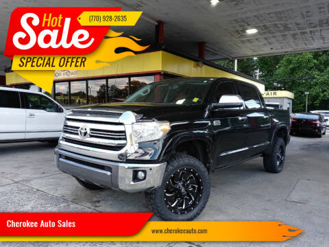 2016 Toyota Tundra for sale at Cherokee Auto Sales in Acworth GA