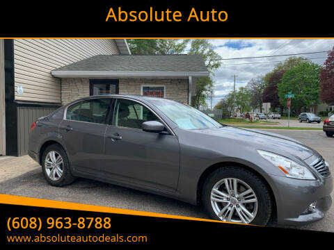 2012 Infiniti G25 Sedan for sale at Absolute Auto in Baraboo WI