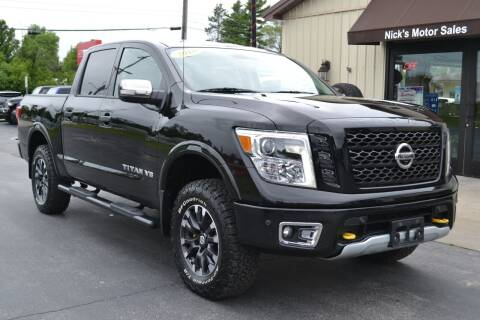 2018 Nissan Titan for sale at Nick's Motor Sales LLC in Kalkaska MI