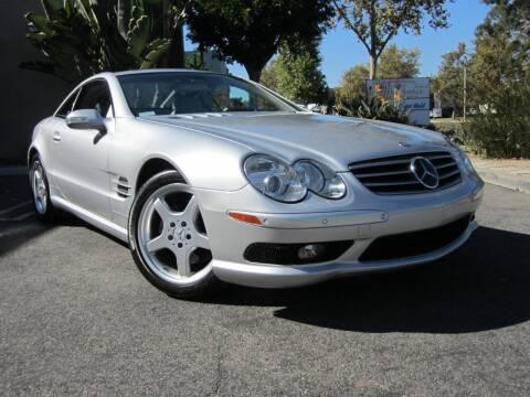 2003 Mercedes-Benz SL-Class for sale at ORANGE COUNTY AUTO WHOLESALE in Irvine CA
