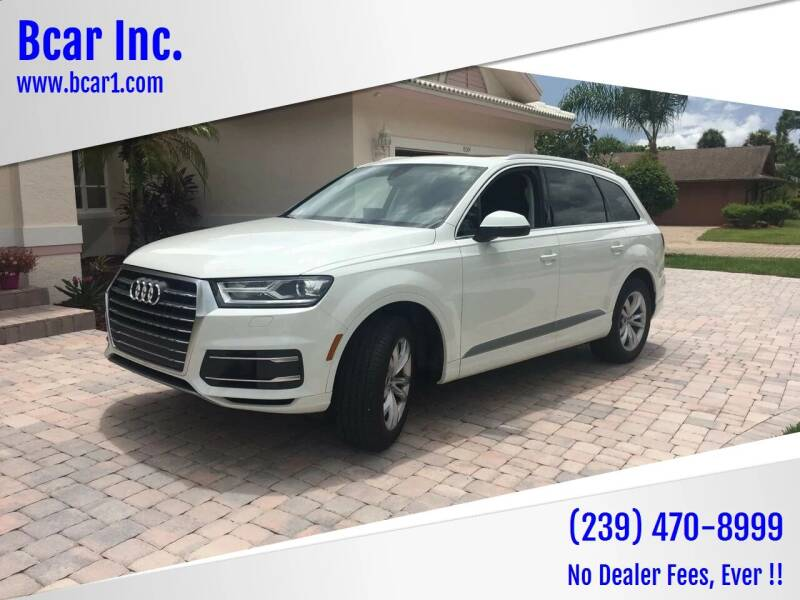 2018 Audi Q7 for sale at Bcar Inc. in Fort Myers FL