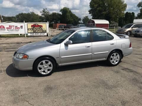 2006 Nissan Sentra for sale at Cordova Motors in Lawrence KS