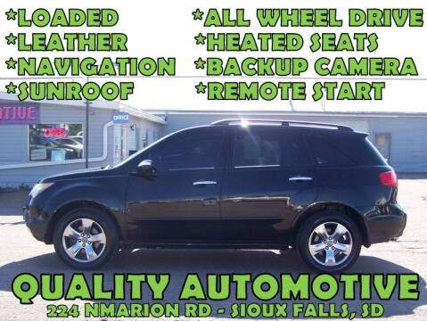 2008 Acura MDX for sale at Quality Automotive in Sioux Falls SD