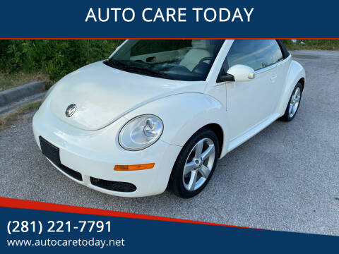 2007 Volkswagen New Beetle Convertible for sale at AUTO CARE TODAY in Spring TX