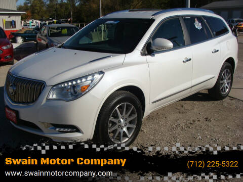 2017 Buick Enclave for sale at Swain Motor Company in Cherokee IA