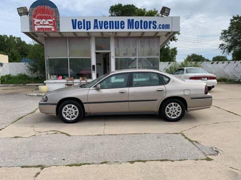 2002 Chevrolet Impala for sale at Velp Avenue Motors LLC in Green Bay WI
