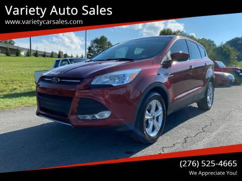 2016 Ford Escape for sale at Variety Auto Sales in Abingdon VA