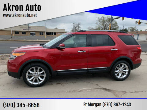 2012 Ford Explorer for sale at Akron Auto - Fort Morgan in Fort Morgan CO