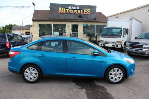 2012 Ford Focus for sale at BANK AUTO SALES in Wayne MI