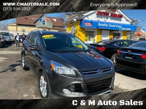 2016 Ford Escape for sale at C & M Auto Sales in Detroit MI