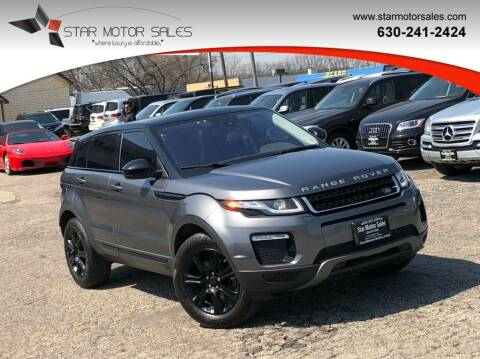 2016 Land Rover Range Rover Evoque for sale at Star Motor Sales in Downers Grove IL