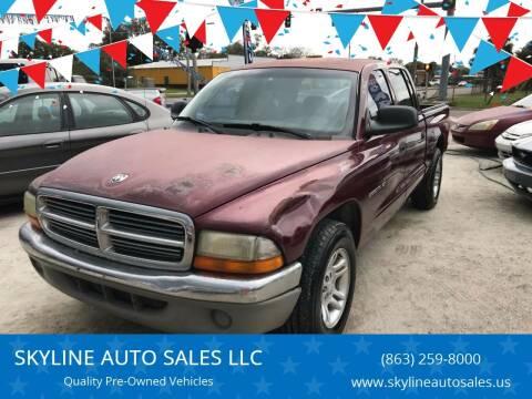 2001 Dodge Dakota for sale at SKYLINE AUTO SALES LLC in Winter Haven FL