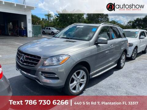 2014 Mercedes-Benz M-Class for sale at AUTOSHOW SALES & SERVICE in Plantation FL